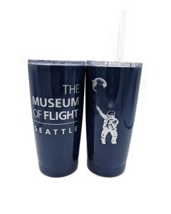 Disco Astronaut Navy 20oz Tumbler with Straw