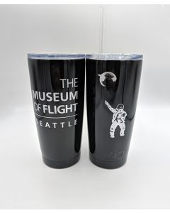 Disco Astronaut Black 20oz Tumbler with Straw