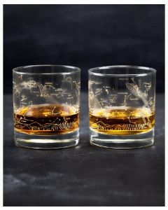 Night Sky Star Chart Old-Fashioned Glasses Set