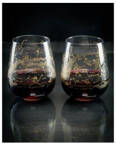 Night Sky Wine Glasses Set