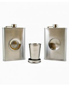 MOF Bench Mark 8 oz. Flask with Collapsible Cup