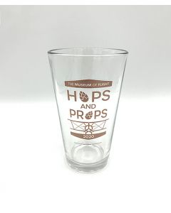 Hops & Props Clear Pint Glass