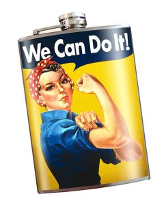 Rosie The Riveter We Can Do It! 8oz Flask