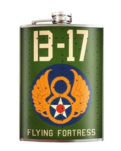 B-17 Flying Fortress 8 oz Flask