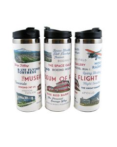 Museum Typography & Icons 14oz Travel Mug