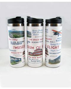 Museum Typography & Icons 14oz Travel Mug