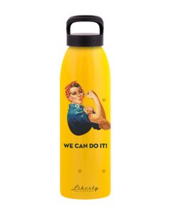 We Can Do It Yellow Water Bottle 24oz.