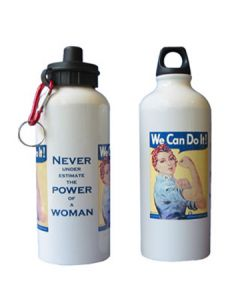 Rosie the Riveter Metal 20oz. Water Bottle