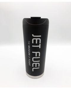 Jet Fuel 16oz Matte Black Travel Mug