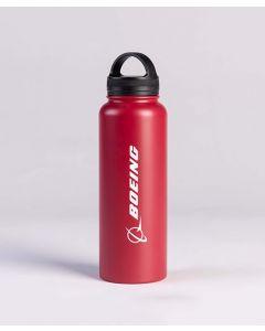 Red Boeing Logo Water Bottle