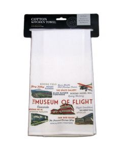 Museum of Flight Icons & Typography  Kitchen Towel