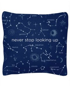 Never Stop Looking Up Pillow
