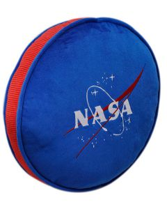 "NASA Vector 14"" Round Blue Pillow"