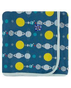Blue Planets Swaddling Blanket