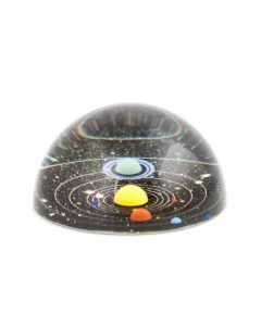 Glass Planetarium Paperweight