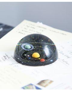 Glass Planetarium Paperweight