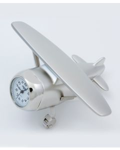 Hi-Wing Silver clock