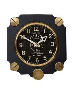 Black Retro Altimeter Wall Clock