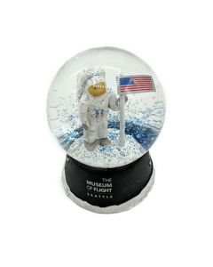 Astronaut with Flag on the Moon 45mm Water Globe
