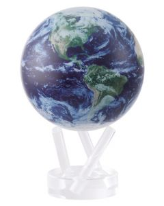 "Earth Satellite View 6"" Perpetual Motion Globe"