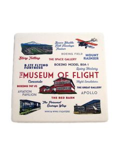 Museum of Flight Typography and Icons Coaster