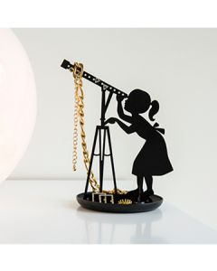Black Stargazer Jewelry Stand