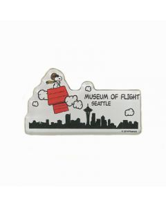 Snoopy Seattle Skyline Magnet