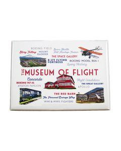 Museum Typography & Icons Magnet