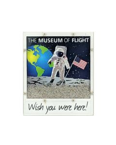 Astronaut Polaroid Sandy Magnet
