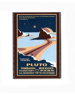 Pluto Tombaugh Regio Planetary Park magnet