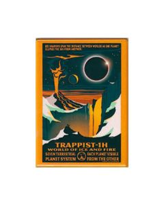 Trappist-1H World of Ice and Fire Magnet