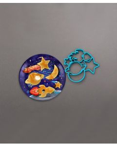 Crack a Smile Space Silicone Mold and Plate