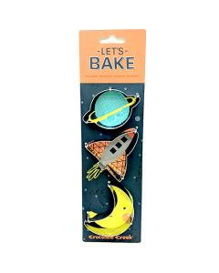 Let's Bake Space Cookie Cutter 3 Piece Set