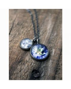 Earth and Moon Layered Necklace