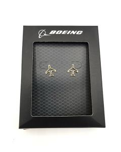 Boeing Airplane Outline Stud Earrings