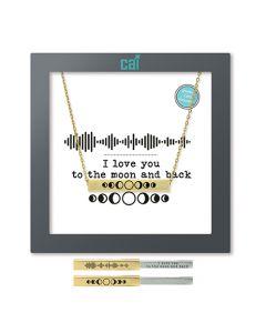 Gold Moon Soundwave Necklace
