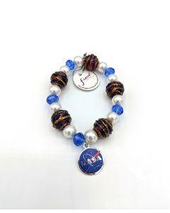 NASA Charm Bead Bracelet