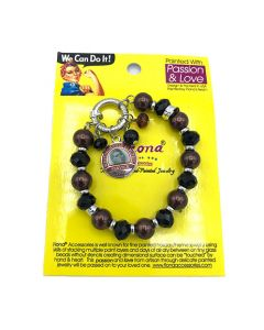 Rosie The Riveter 1942 Charm Bead Bracelet