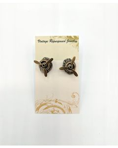 Gold Moveable Propeller Cufflinks