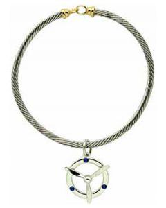 Silver Propeller Bracelet