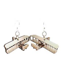 Wright Flyer Wood Earrings