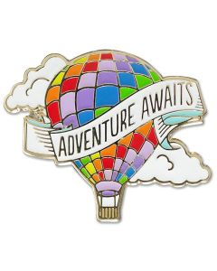 Adventure Awaits Hot Air Balloon Pin