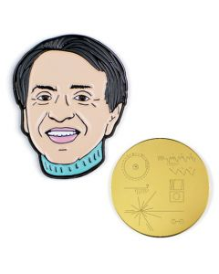 Carl Sagan and Golden Record Pin