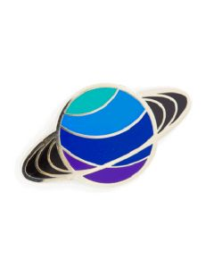 Blue 3-Ringed Saturn Enamel Pin