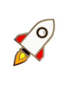 Rocketship Enamel Pin