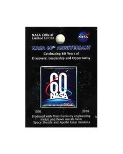 NASA 60th Anniversary Lapel Pin