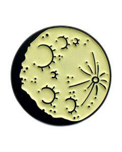 Glow In The Dark Moon Enamel Pin