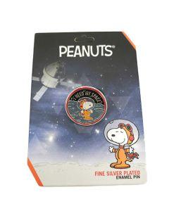 Peanuts I Need My Space Astronaut Snoopy Pin