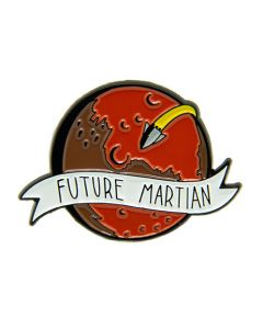 Future Martian Mars Pin