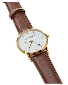 Boeing Men's Gold Rotating Airplane Watch